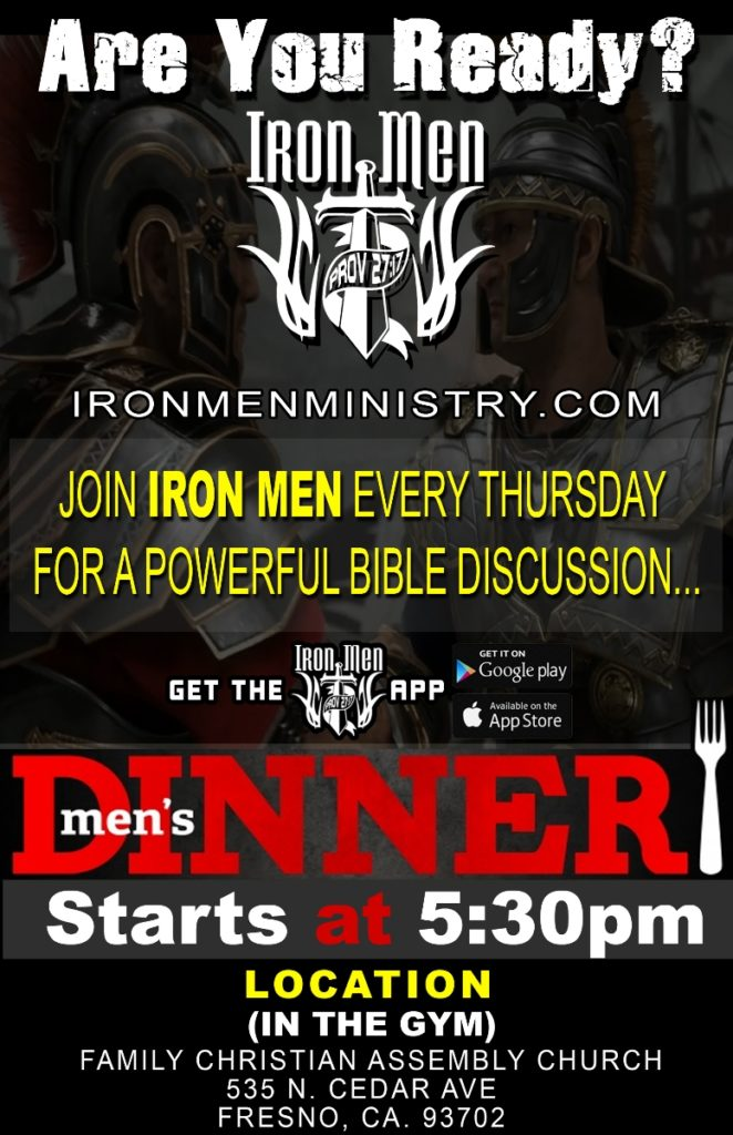 Men's Dinner & Bible Discussions